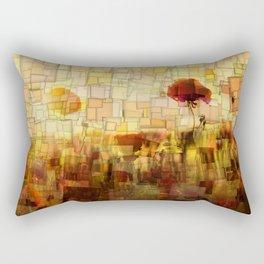 Poppies in the Sun Mosaic Rectangular Pillow