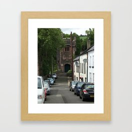 Busy Street Glenarm Ireland Framed Art Print