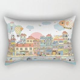 79 Cats in Harbor City Rectangular Pillow
