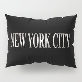 New York City (type in type on black) Pillow Sham