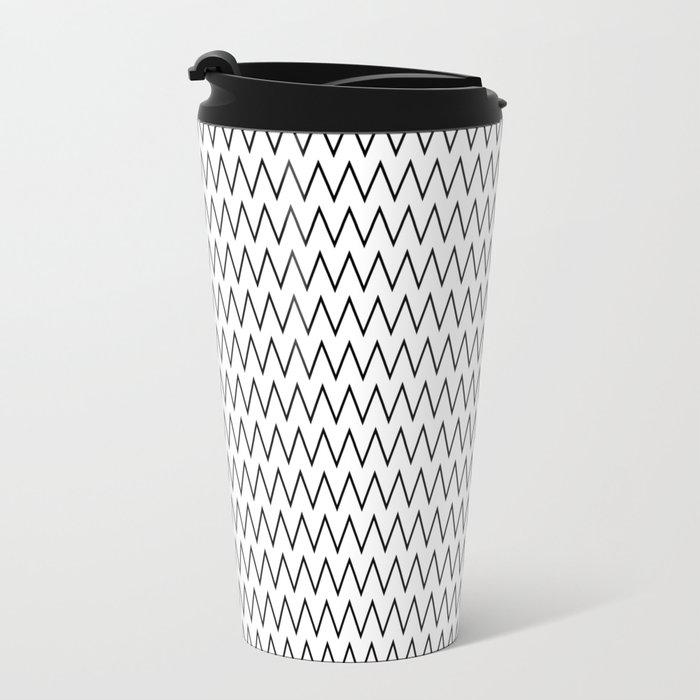 Minimalist Chevron Metal Travel Mug
