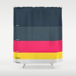 Palette Color hex Shower Curtain