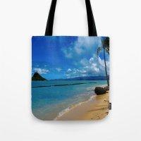 hawaiian Tote Bags featuring Hawaiian Dreams by Upperleft Studios