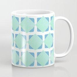 Mint and blue squares pattern Coffee Mug