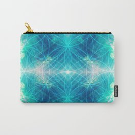Hawaiian Oceanic Flower Of Life Carry-All Pouch