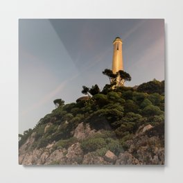 Sunset at the Phare Metal Print