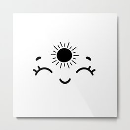 Live by the Sun, Love by the Moon II Metal Print