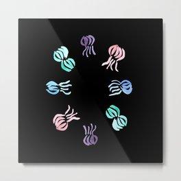 Jellyfish circle Metal Print