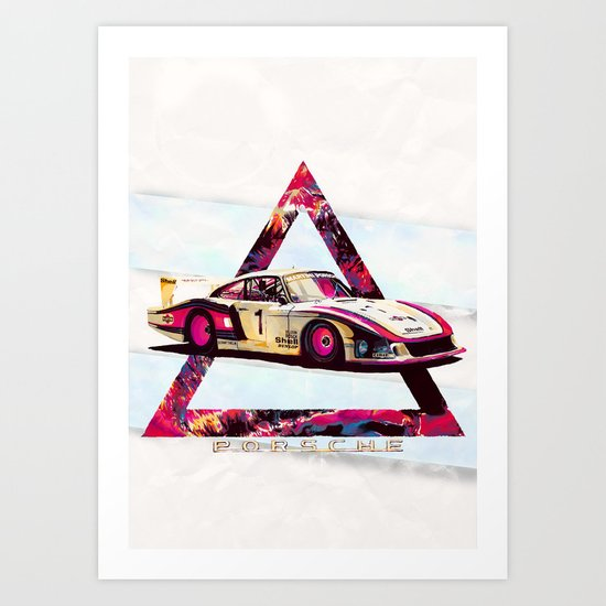 """Porsche 935/78 """"Moby Dick"""" // Le Mans Race Cars Art Print"""