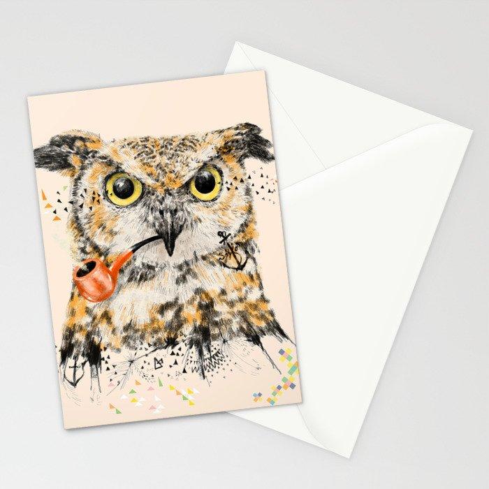 Mr.Owl II Stationery Cards