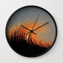 Fire Storm Wall Clock