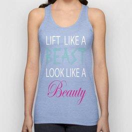 LiftLike a Beast Look Like a Beauty Lifting Gym T-Shirt Unisex Tank Top