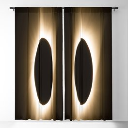 Totality - 2017 Total Solar Eclipse with Golden Corona Blackout Curtain