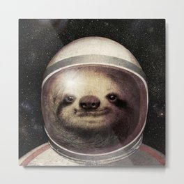 Space Sloth Metal Print
