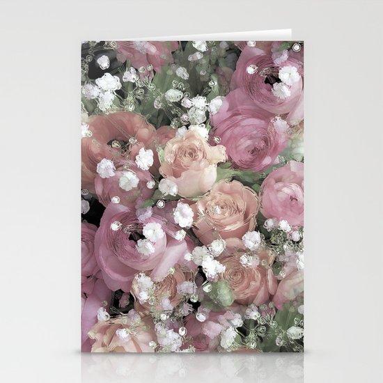 vintage pastel flowers Stationery Cards