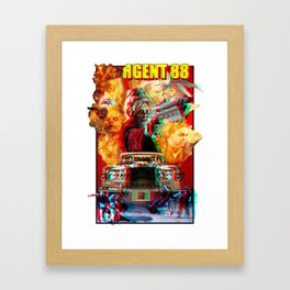 "Stereoscopic 3D version of ""Guns O' Fury"" from Heavy Metal presents The Art of 88 Framed Art Print"