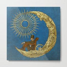 Moon Travel (Colour Option) Metal Print