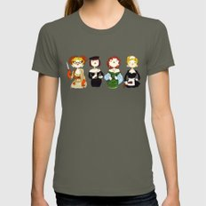 Ladies of Clue Womens Fitted Tee Lieutenant LARGE