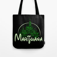 marijuana Tote Bags featuring Marijuana  by FandomizedRose