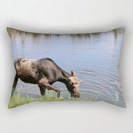 Young Moose Rectangular Pillow