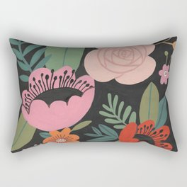 Floral Guache Rectangular Pillow