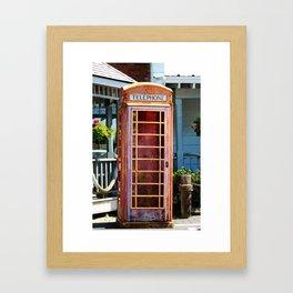 Telephone Box Framed Art Print