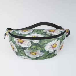 floral pattern with chinese peony, watercolor illustration. Tree peonies sketch from nature. Fanny Pack