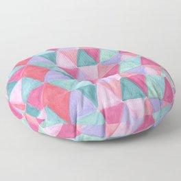 pastel triangle pattern Floor Pillow