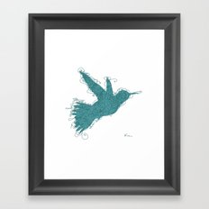 Bird Fly No. 1 (Aqua) Framed Art Print