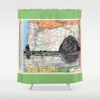 oregon Shower Curtains featuring Oregon by Ursula Rodgers