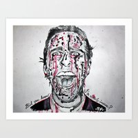 american psycho Art Prints featuring American Psycho  by pmaiti