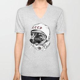 laika, space traveler Unisex V-Neck