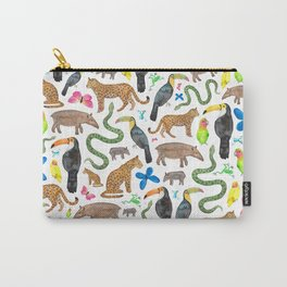 Jungle/Exotic Animals Carry-All Pouch