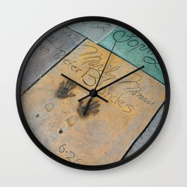 Marilyn Hand Prints in Hollywood Wall Clock
