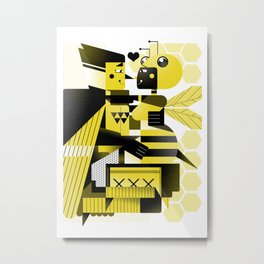 The bird and the bee Metal Print