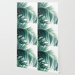 Palm Leaves Green Vibes #6 #tropical #decor #art #society6 Wallpaper