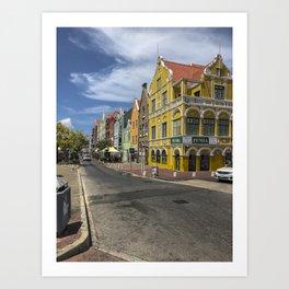Curacao Rainbow Homes Art Print