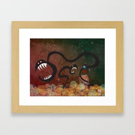Stan and the Space Dragons Framed Art Print