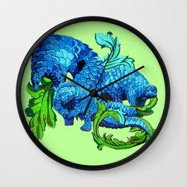 Floral Pangolins Wall Clock