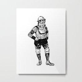 End of The World Armor Metal Print