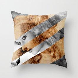 Leonardo's Head of Woman & Brigitte Bardot Throw Pillow