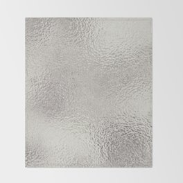 Simply Metallic in Silver Throw Blanket