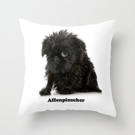 Affenpinscher Dog Father Throw Pillow