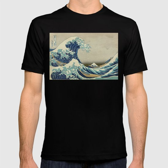 Illustration of blue japanese wave by marios