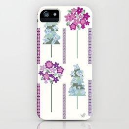 Geometric flowers iPhone Case