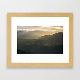 Sunrise in North Georgia Mountains 4 Framed Art Print