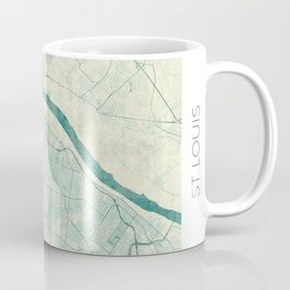 St. Louis Map Blue Vintage Coffee Mug