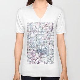 Columbus map Unisex V-Neck