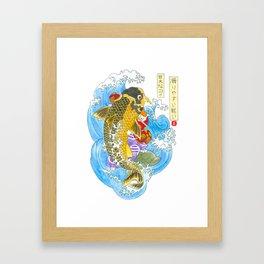 Fighting the Giant Carp Framed Art Print