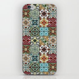 Colorful Spanish Tiles iPhone Skin